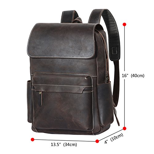 84a8cbf217 Lifewit Leather Mini Backpack Purse Stylish Casual Fashion Bookbag for Women  Office College, Brown