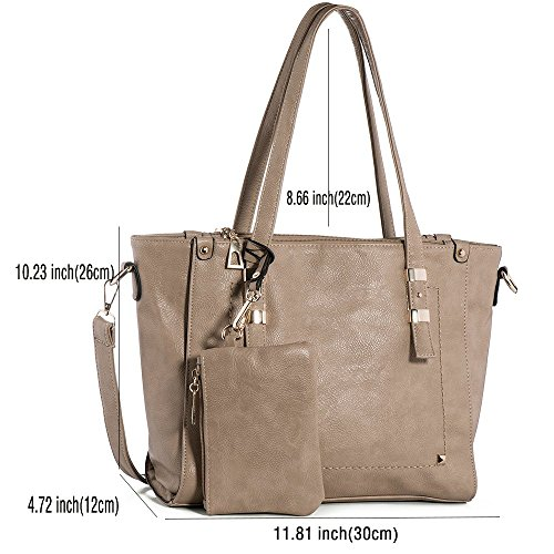 05dce40929c9 WISHESGEM Women Fashion Handbags Top-Handle Shoulder Bags PU Leather ...