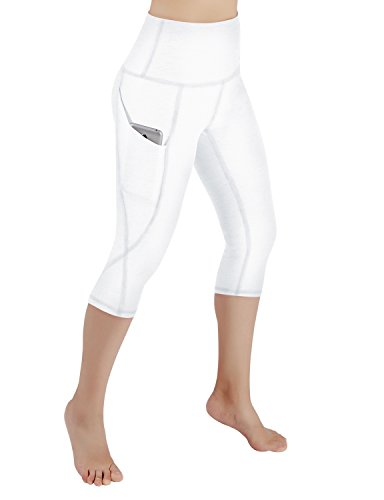 b1c1bed54953 ODODOS High Waist Out Pocket Yoga Capris Pants Tummy Control Workout ...