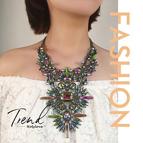 1562b9371 Holylove Colorful Costume Statement Necklace for Women Novelty Fashion  Jewelry 1 pc with Gift Box- HLN0003 Colorful