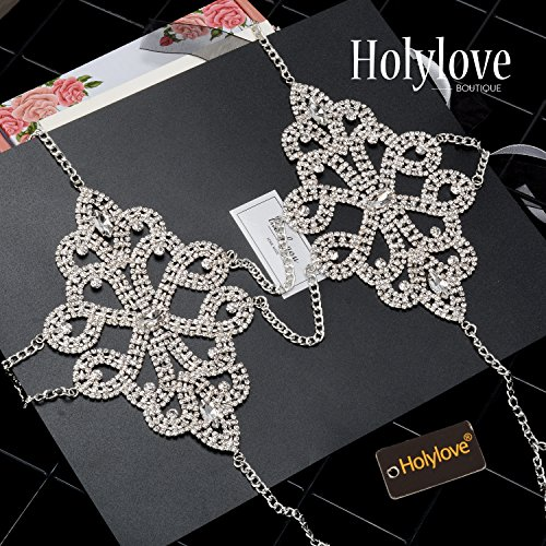 Holylove Body Chains 2 Colors Women Novelty Jewelry Necklace 1 PC with Gift Box