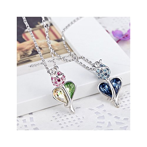 77572f2ea ... Women Gift J.NINA. Fancy Heart Pendant Necklace with Love Heart Crystals  💖