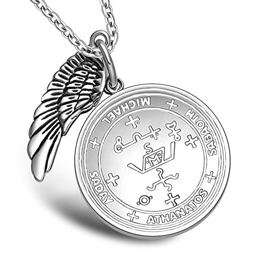 Sigil of Archangel Michael Amulet Magic Powers Angel Wing Charm