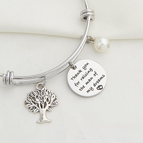 WUSUANED Thank You For Raising The Man//Lady Of My Dreams Bracelet Family Tree Bracelet Thank You Gift for Mother In Law