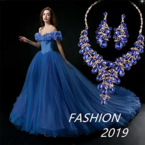 Bridesmaid Statement Necklaces   Rhinestone Crystal Statement Necklace Earrings Jewelry Sets For