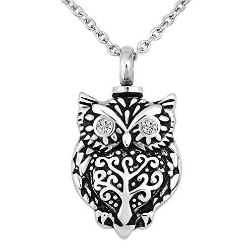 Lovelyjewelry Owl Cremation Urn Necklace For Ashes Jewelry Memorial Keepsake Pendant The Beautyline