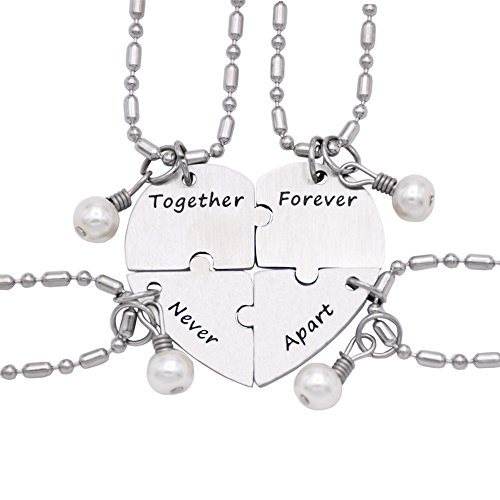 Together Forever Never Apart Four Piece Puzzle Heart ...